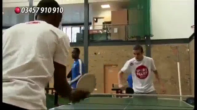 Sport Relief: Rooney and Rio Ping Pong Challenge