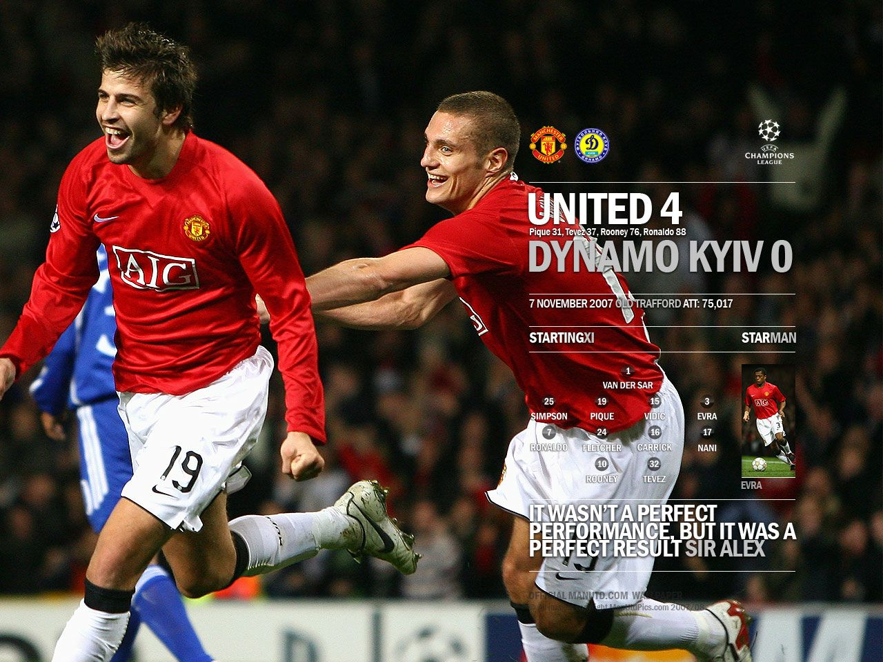 Manchester United 4 - 0 Dynamo Kyiv  Wallpaper