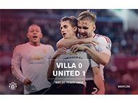 Aston Villa 0 United 1