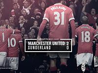 United 2 Sunderland 0