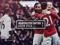 United 3 Aston Villa 1